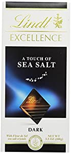 Lindt Excellence A Touch of Sea Salt Dark Chocolate Bar, 3.5-Ounce Packages (Pack of 12)