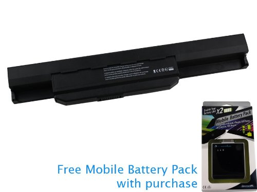 Asus A32-K53 Battery 56Wh, 5200mAh (Extended Capacity) with let go Mobile Battery Pack