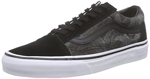VansOld Skool - Scarpe Sportive Outdoor unisex adulto , Nero (Noir (Chambray Leaves/Black)), 43