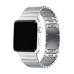 Apple Watch Band 42mm Series 1/Series 2,Bandkin Link Bracelet Watch Band without Tool, Stainless Steel strap for iWatch (Silver, 42mm)