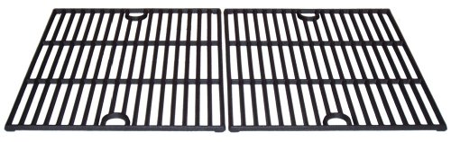 Music City Metals 61192 Matte Cast Iron Cooking Grid Replacement for Select Gas Grill Models by Kenmore, Kmart and Others, Set of 2