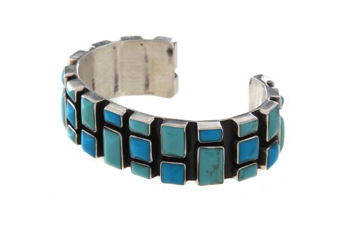 Tianguis Jackson Sterling Silver Oxidised Bangle On Synthetic Turquoise