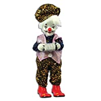Moving Clown Playing Accordion Music Box 13