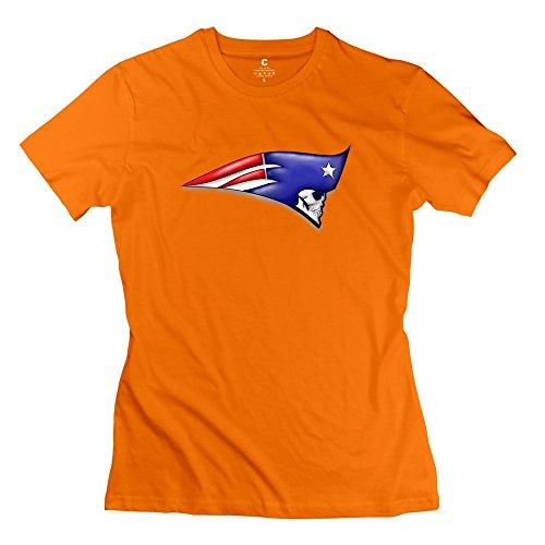 Designed Women's T-shirts Retro NFL New England Patriots Size XL Orange