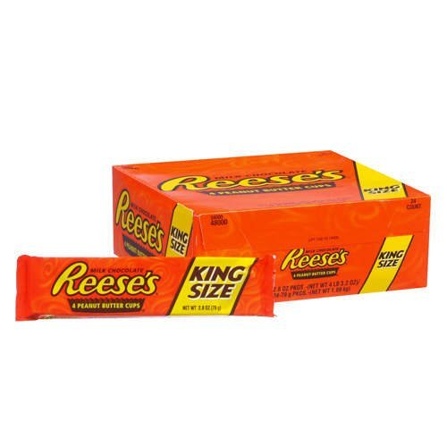 REESE'S Peanut Butter Cups (King Size, 2.8-Ounce Packages, Pack of 24)