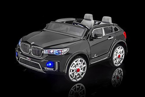 SPORTrax BMW X7 Style Kid's Ride On Car, 2 Seater, Battery Powered, Remote Control, w/FREE MP3 Player – Black