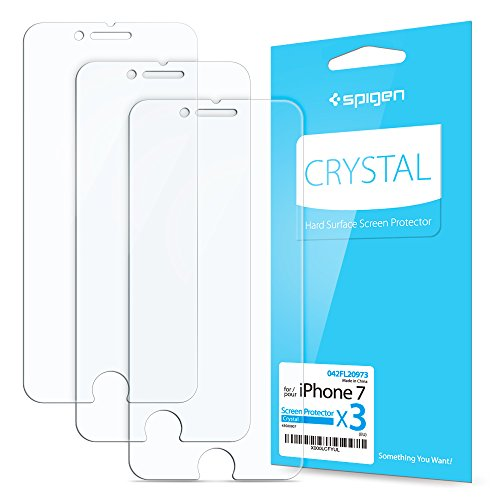 [3-Pack] iPhone 7 Screen Protector, Film Protection, Spigen® **Anti-Scratch Ultra Clear** iPhone 7 Screen Protector (042FL20973)