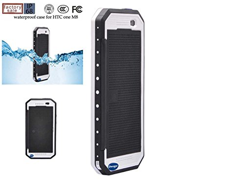 Nancy'S Shop Dot View Matrix Case Cover For Htc One M8 Waterproof Dirtproof Snowproof Shockproof Skin Hard Phone Shell For Htc One M8 (White)