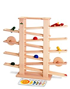 NIC Wooden Toys - Multi-race Medi with 9 track parts