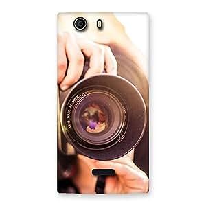 Impressive Premier Camera Multicolor Back Case Cover for Canvas Nitro 2 E311