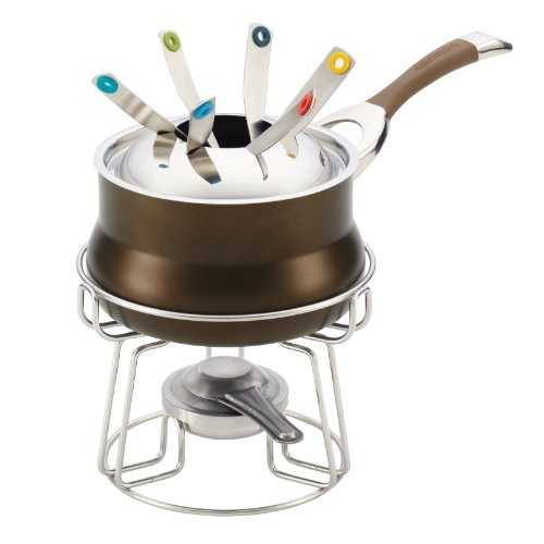 Circulon Symmetry Chocolate Hard Anodized Nonstick 3-1/4-Quart Fondue Set