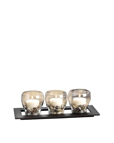 Pomeroy Batik Lighting Décor Tray with Candle Holders