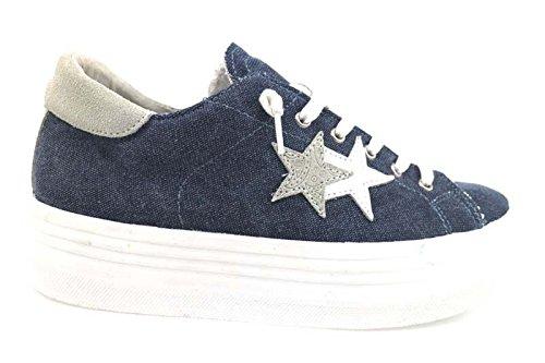 scarpe donna 2 STAR 40 EU sneakers blu tessuto AP696