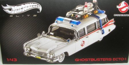 Mattel Hot Wheels Collector Elite Ghostbusters Ecto-1 1:43 Scale Die Cast