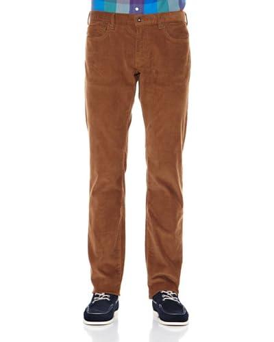 Dockers Pantalone 5 tasche Slim Velluto [Marrone Tabacco]