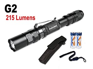 Bundle: Fenix LD22 G2 215 Lumen LED Flashlight with Free Holster, Lanyard & 2x... by Fenix