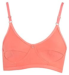 Lovely Day Non-Wired Full Cup Bra (ST12_ 38, Orange, 38 B)