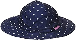 Jojo Maman Bebe Baby Girls\' Floppy Hat, Navy White Dot, 0 6 Months