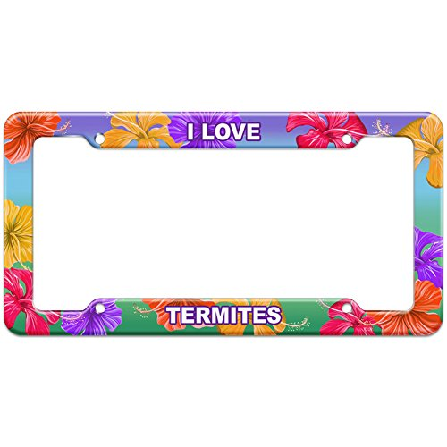tropical-hibiscus-license-plate-frame-i-love-animals-t-z-termites