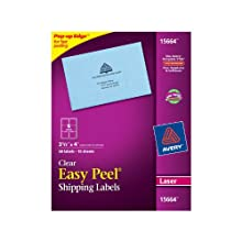 Avery Clear Easy Peel Shipping Labels for Laser Printers, 3.33 x 4 Inches, 60 Labels (15664)