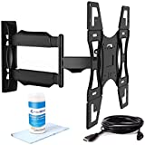 "Invision Tilt Swivel TV Wall Mount Bracket 26"" - 55"" (Includes High-Speed HDMI Cable and Dust Repellent Screen Cleaning Gel) - Compatible with LED, LCD, Plasmas, Max VESA 400mm x 400mm [Please Check TV VESA Mounting Holes Before Purchase]"