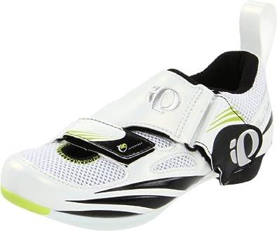 Pearl iZUMi Women's Tri Fly IV Cycling Shoe,White/Black,42 EU/9.5 D US
