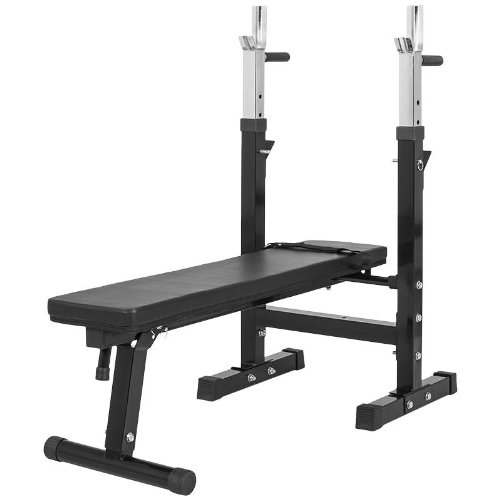 Gorilla Sports 10000118 - Panca per sollevamento pesi con portabilanciere