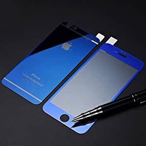 ScratchfreeLook Electroplated Mirror Finish Glossy Brushed Metal Effect Coloured Front & Back Tempered Glass For Apple iPhone 6 plus,6+