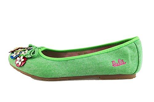 scarpe bambina LULU' ballerine tela (EU 36, Verde)