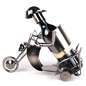 Porte-Bouteille Vin Moto Retro Classique en Metal