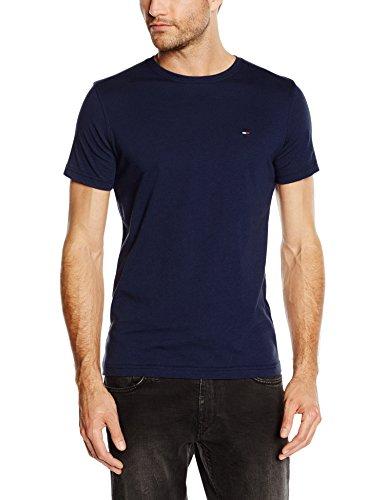 Hilfiger Denim Cn Knit S/s Maglietta a Maniche Corte da Uomo, Colore Blu (Navy), Taglia Medium