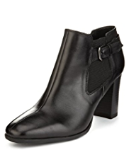 M&S Collection Leather Shoe Boots with Insolia®