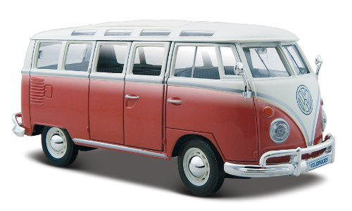 Maisto 1:25 Scale Volkswagen Van Samba ~ Red and White (Vw Bus Model compare prices)
