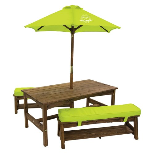 Discount best to toys kids outdoor furniture sale - Children s picnic table with umbrella ...