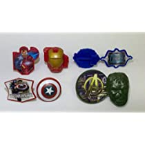 Marvel Avengers Superhero Cupcake Rings - 8 Pack Assortment [Toy]
