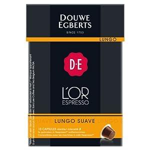 Douwe Egberts L'OR Espresso Lungo Suave, 10 capsules, Nespresso compatible