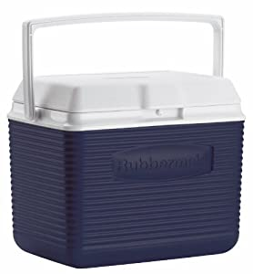 Rubbermaid Cooler / Ice Chest, 10-quart, Blue