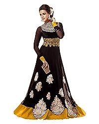 Saree Galaxy Net Patch Work Salwar Saree (Kvd16G24786 _Black)