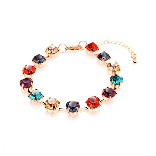 Time Pawnshop Elegant Colorful Cubic Zirconia Teardrop Noble Lady Bracelet