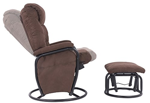 merax 360 swivel fabric recliner glider rocking living