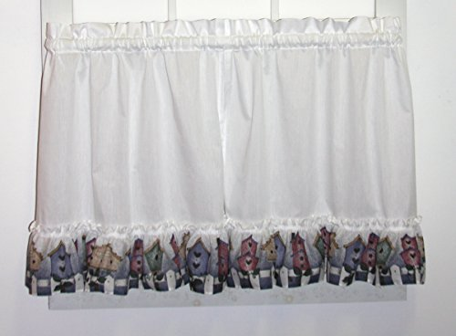 """Country Club Vintage Lace Panel Pewter 57x90/"""" Net Curtain Floral Pattern Privacy"""