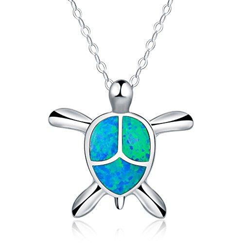 collar-con-colgante-de-mujer-18-forma-de-tortuga-opalo-azul-sintetico-plata-esterlina-925