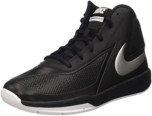 Nike Team Hustle D7 Gs, Scarpe da Basketball Bambini e Ragazzi, Multicolore (Black/Metallic Silver/White), 39 EU