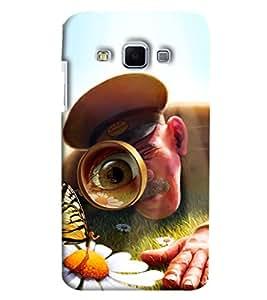 Blue Throat Police Men Identifying Printed Designer Back Cover/ Case For Samsung Galaxy J3