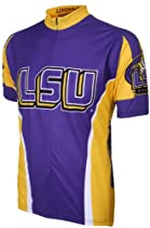 NCAA LSU Adrenaline Promotions Cycling Jersey, Small (purple/yellow)