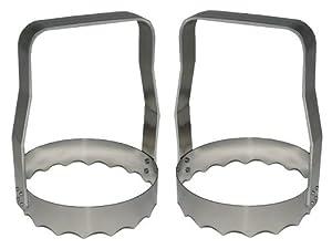 Rada Cutlery Serrated Aluminum Food Chopper, Kwik-Kut, Made in USA (Pkg of 2 - R115S 2) by Rada Cutlery