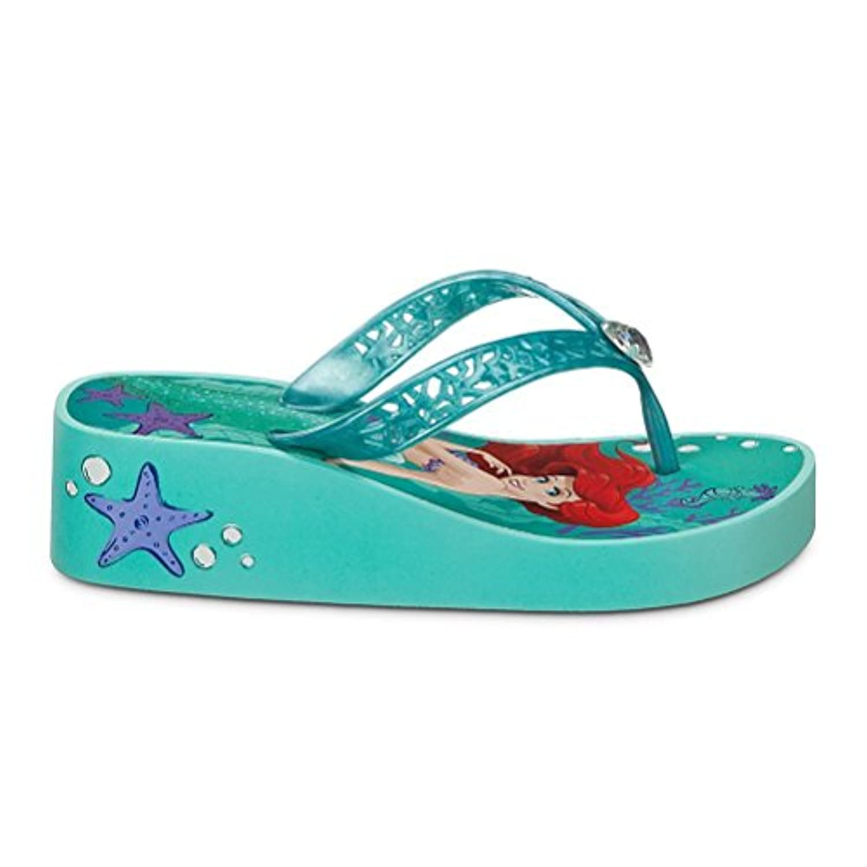 e6f9db5cee5 ... Disney Store Princess The Little Mermaid Ariel Big Girl Platform Flip  Flop Sandals 13 1