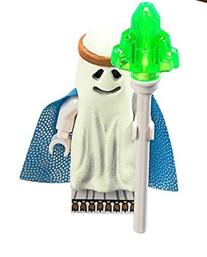 The LEGO Movie - Glow-in-the-Dark Ghost Vitruvius Minifigure with staff from set 70818 - 1