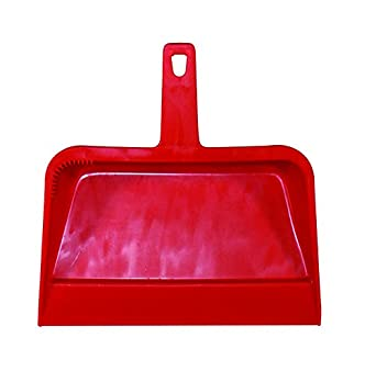 "Impact 703 Plastic Dust Pan, 12"" Length x 12"" Width x 4"" Height, Red (Case of 12)"