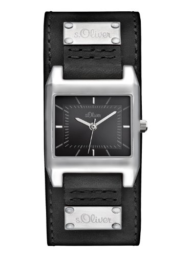 s.Oliver Damen-Armbanduhr Casual Analog Quarz Leder SO-2465-LQ